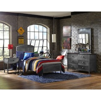 Hillsdale Furniture Urban Quarters Youth Panel Bed Set - Twin