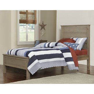 Hillsdale Furniture Highlands Alex Bed HB/FB/Slats/Rails - Twin Driftwood