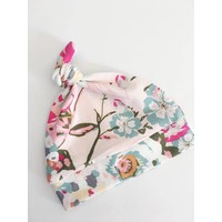 Macie and me Knotted Hat NB - Pink Floral