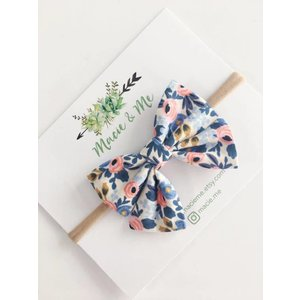 Macie and me Floral Bow Headband - Periwinkle Rosa