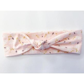 Macie and me Knotted Headband - Dainty Pink Floral
