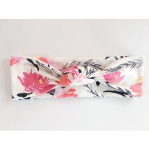 Macie and me Knotted Headband - Pink Peony