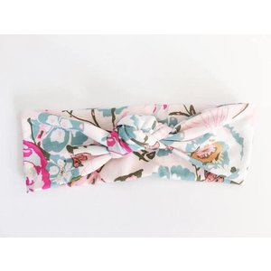 Macie and me Knotted Headband - Pink Floral