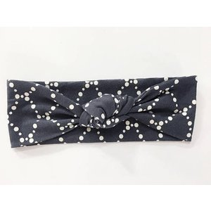 Macie and me Knotted Headband - Black Scallop