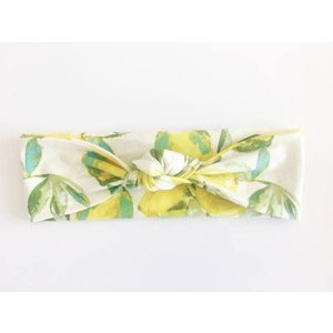 Macie and me Knotted Headband - Lemon