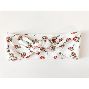 Macie and me Knotted Headband - White Floral