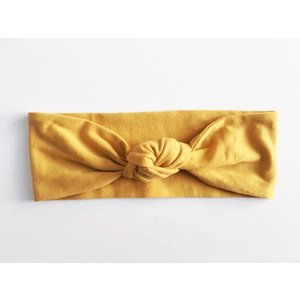 Macie and me Knotted Headband - Mustard Yellow