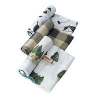 Little Unicorn Cotton Muslin Swaddle Set - Happy Camper