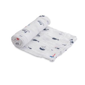 Little Unicorn Cotton Muslin Swaddle - Nautical Harbor