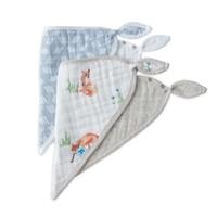 Little Unicorn Cotton Muslin Bandana Bib 2 Pack - Fox