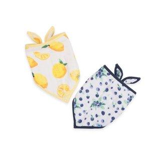 Little Unicorn Cotton Muslin Bandana Bib 2 Pack - Berry Lemonade