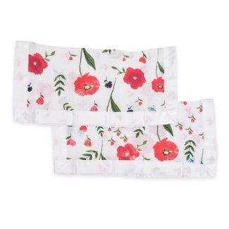 Little Unicorn Cotton Muslin Security Blanket - Summer Poppy