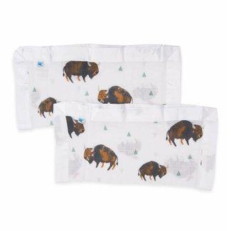 Little Unicorn Cotton Muslin Security Blanket - Bison