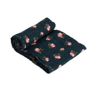 Little Unicorn Cotton Muslin Swaddle - Midnight Rose