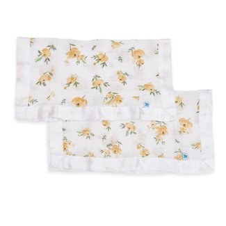 Little Unicorn Cotton Muslin Security Blanket - Yellow Rose