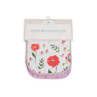 Little Unicorn Cotton Muslin Classic Bib 3 Pack - Floral Medley
