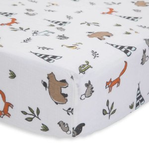 Little Unicorn Cotton Muslin Crib Sheet - Forest Friends