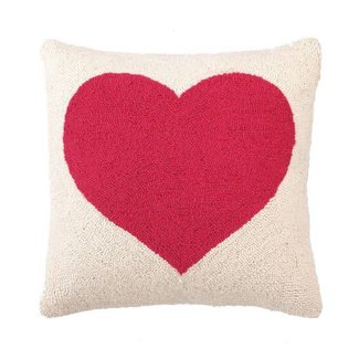 Pink Heart Hook Pillow