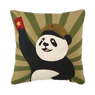 Panda Felt Pillow 16X16