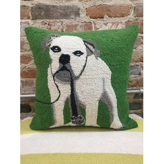 Singer Bulldog Hook Pillow