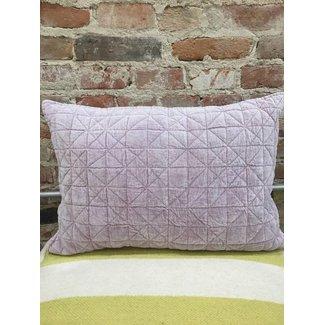16x24 Velvet Quilted Pillow Purple