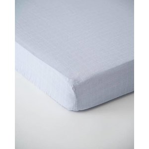 Little Unicorn Cotton Muslin Crib Sheet - Cloud Blue
