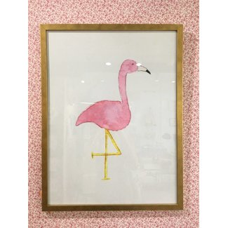 Pink Flamingo in Frame