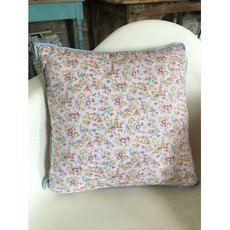Pink Floral Cushion Square