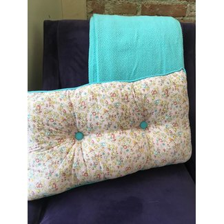 Pink Floral Cushion Lumbar