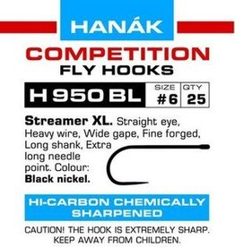Hanak Competition HANAK H950BL BARBLESS 2XL STREAMER HOOK - 25 PACK