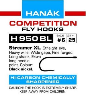 HANAK HANAK H950BL BARBLESS 2XL STREAMER HOOK - 25 PACK