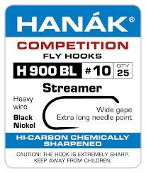 Hanak Competition HANAK H900BL BARBLESS STREAMER HOOK - 25 PACK