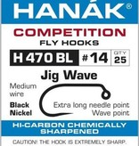 Hanak Competition HANAK H470BL WAVE JIG HOOK - 25 PACK