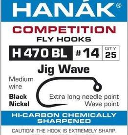 Hanak Competition HANAK H470BL WAVE JIG HOOK - 25 PACK