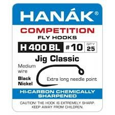 HANAK HANAK H400BL BARBLESS CLASSIC JIG HOOK - 60 DEGREE