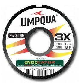 UMPQUA UMPQUA INDICATOR TIPPET - RED/YELLOW