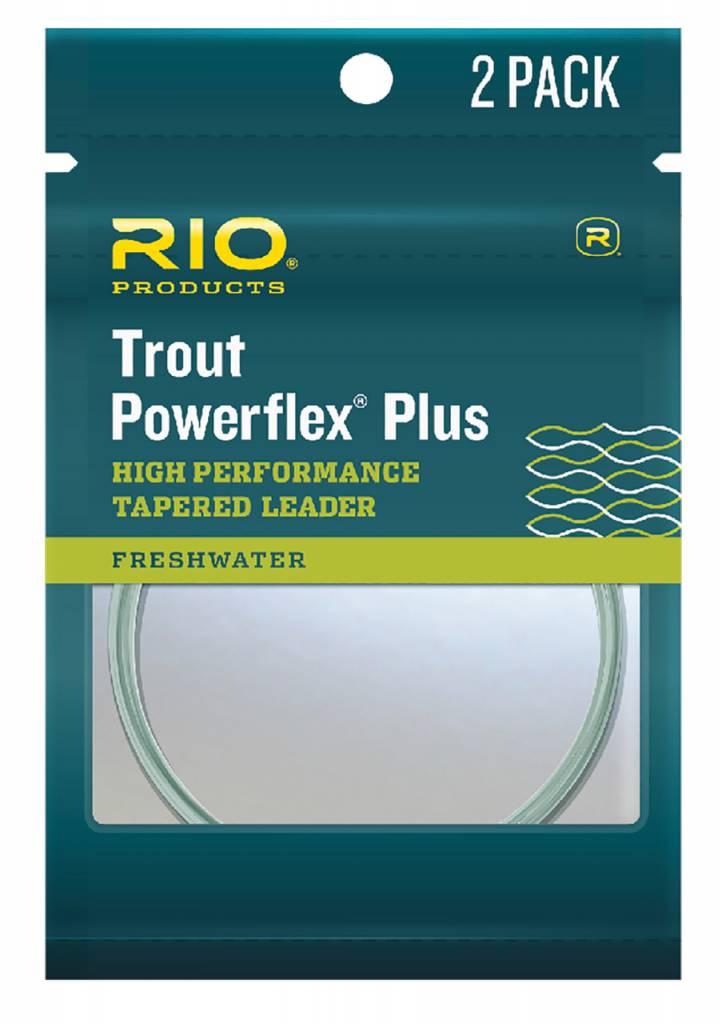 RIO POWERFLEX PLUS TROUT LEADER - 2 PACK