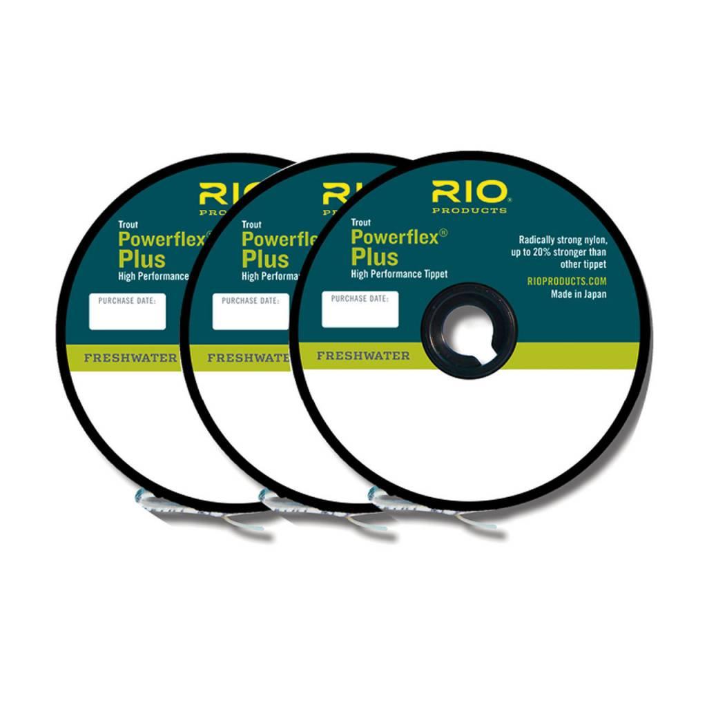 RIO POWERFLEX PLUS TIPPET 3 PACK 4X-5X-6X