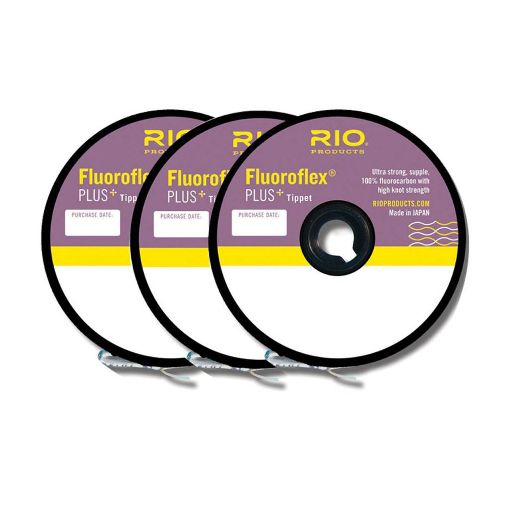 RIO PRODUCTS RIO FLUOROFLEX PLUS TIPPET 3 PACK 4-6X