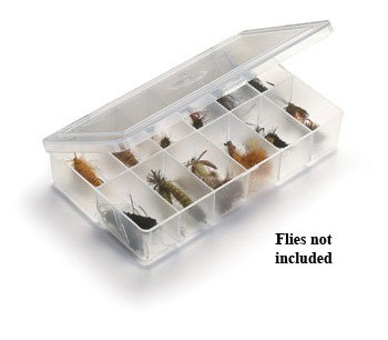 UMPQUA MYRAN 1200 - 12 COMPARTMENT - CLEAR FLY BOX