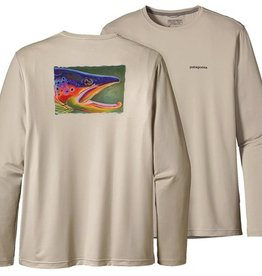 PATAGONIA GRAPHIC FISH TEE - BG - BLEACHED STONE
