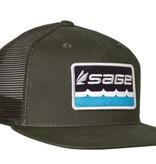 SAGE ON THE WATER TRUCKER CAP