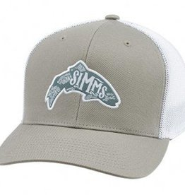 SIMMS FLEXFIT WOODBLOCK TRUCKER TROUT CAP - CLOSEOUT