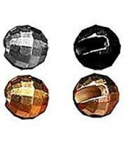 SLOTTED FACETED TUNGSTEN BEADS - 50 PACK
