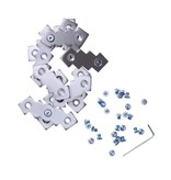 Foot Tractor Aluminum Bar Replacement Kit Silver S