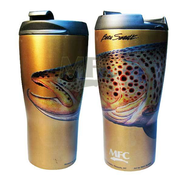 MONTANA FLY MFC VACUUM COFFEE MUG - SUNDELL'S OCTOBER BROWN
