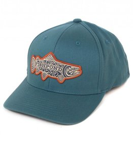 FISHPOND FISHPOND MAORI TROUT HAT - NAVY - FLEXFIT