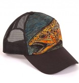 FISHPOND FISHPOND BROWN TROUT FOAM TRUCKER CHARCOAL