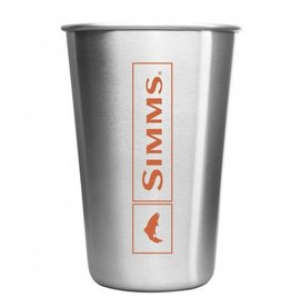 SIMMS SIMMS HEADWATERS PINT GLASS - STAINLESS