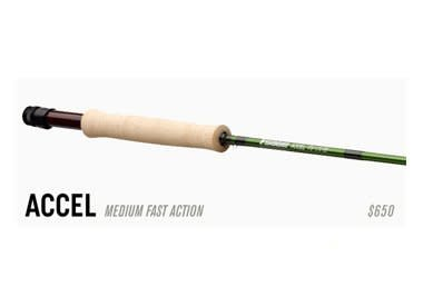 SAGE SAGE ACCEL FLY ROD -  8'6'' 4 WEIGHT